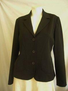 TRISTAN & ISEUT Size 8 Jacket Blazer Black Button Down Lined Career #TristanandIseut #BasicJacket