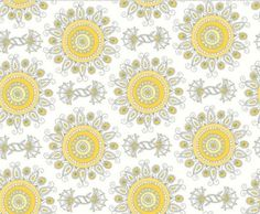 White Sunflower fabric from the Vintage by fabric2goStudio on Etsy