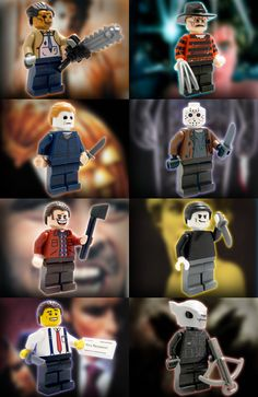 lego custom minifigures | Horror Film Custom LEGO Minifigures