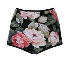 Floral 'Jeanne' Jersey High Waisted Knickers