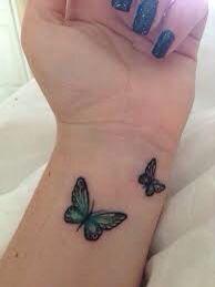 R butterfly tattoo