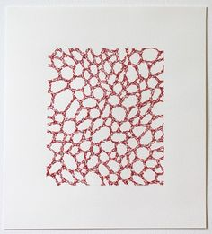 Emily Barletta: Untitled 19 2012 thread and paper x inches Embroidery Art, Cross Stitch Embroidery, Shading Drawing, Visual Texture, Crochet Cross, Felt Patterns, Ink Illustrations, Linocut Prints, Art Prints