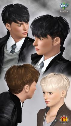 Obabylon hairstyle for boys Hair 13 by Raonjena for Sims 3