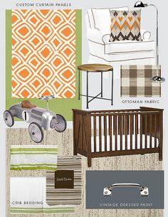 Awesome mood board for baby boy's room