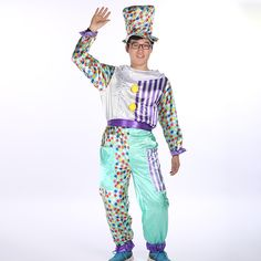 Adult Clown Set Halloween Costume cosplay Stage Theater Performance Costume Cartoon Party #Clown Halloween Costumes Theatre Stage, Theater, Clown Halloween Costumes, Cosplay, Cartoon, Party, Style, Fashion, Swag
