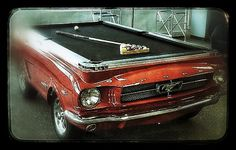 Game of pool & a hot car! What better combo?! #JackMyStyle #cherryred #musclecar #classic #hotrod #billiards