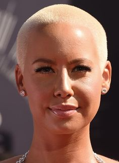 Bald Hairstyles - Almost-Bald Hairstyle by Amber Rose