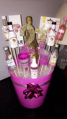 21st Birthday Gift Basket Ideas Instead Of Bachelorette Party Idea For The Bride