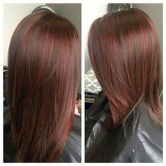 60 Brilliant Brown Hair With Red Highlights: 60 Brilliant Brown Hair with Red Highlights brown hair with red highlights - Red Hair… Red Highlights In Brown Hair, Hair Highlights And Lowlights, Red Brown Hair, Light Brown Hair, Light Hair, Brown Hair Red Lowlights, Chunky Highlights, Caramel Highlights, Color Highlights