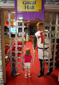 Entrance to the Great Hall - Kingdom Chronicles  - Another use for duct tape!  https://www.facebook.com/RBTKids