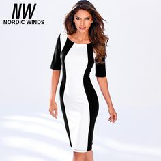 =>>CheapNordic winds 2016 autumn women's new fashion o-neck half sleeve black white splice vintage bodycon career dressNordic winds 2016 autumn women's new fashion o-neck half sleeve black white splice vintage bodycon career dressBest...Cleck Hot Deals >>> http://id873260149.cloudns.pointto.us/32754600276.html images