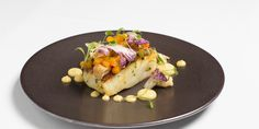 Seafood chef Tony Flemming serves up a cod dish steeped in Indian-inspired flavours, with warming curry butter complimenting the sweet cauliflower and mango