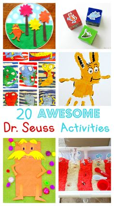 AWESOME Dr. Seuss Activities and Crafts!                                     Crafting is fun and a great way to spend time.  Check out more at CouponistaQueen.com