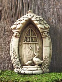 #Carruth A mother goose's #fairy #door - another #gift for a #fairy #garden #madeinAmerica #weatherproof #handcrafted