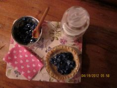 Blueberry Pie Prep Board by kensingtonminiatures on Etsy, $18.99