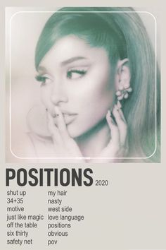 Positions poster