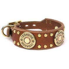 Karma Collars: Custom Leather Dog Collars - The Outlaw   one of Bailey's new dog collars I ordered