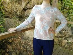 French Vintage Angora Blend Sweater by FromParisToProvence on Etsy
