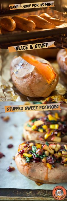 Perfect Stuffed Sweet Potatoes // bake as recommended and fill with your fave fixin's #healthy #cleaneats