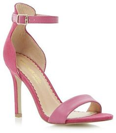 e59c99f7b154 Womens shocking pink heels from Dune - £22 at ClothingByColour.com Dressy  Sandals