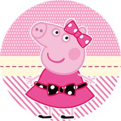 Latinhas, Toppers e Tubetes Miss Peppa