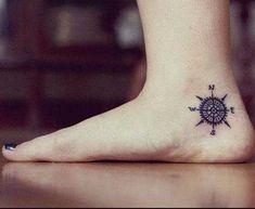 ankle compass tattoo ayak bileği pusula dövmesi