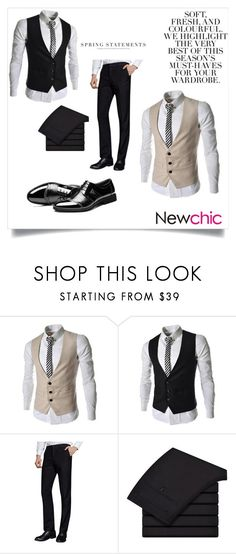 """""""#Newchic"""" by kristina779 ❤ liked on Polyvore featuring Folio, men's fashion, menswear, polyvorefashion and polylove"""