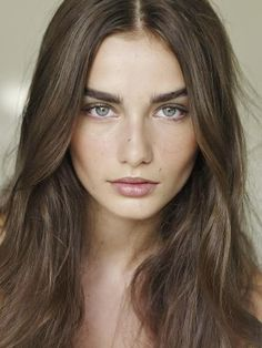 Soft Summer, base hair colour. Andreea Diaconu