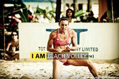 Melody Benhamou (FRA) by Karim Levy - Beach volleyball