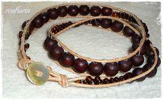 DIY ... alles vonKarin : DIY: Wickelarmband Chan Luu Style Chan Luu, Beaded Bracelets, Gold, Diy, Jewelry, Style, Make Jewelry, Knitting And Crocheting, Homemade