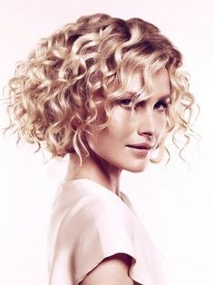 structured curly bob