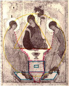 Trinidad, Church Icon, Byzantine Icons, Mandala, Sacred Feminine, Orthodox Christianity, Art Icon, Orthodox Icons, Sacred Art
