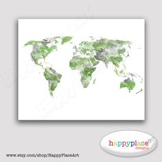 Watercolour world map poster large world map with watercolor watercolour world map poster large world map with watercolor texture digital file for instant download in various sizes incl 11x14 20x30 office wall gumiabroncs Images