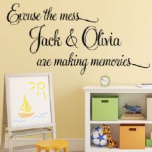 brothers by chance friends by choice personalised wall sticker