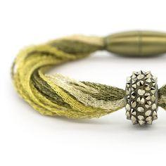 Tuscany Variation 4 Bracelet | Fusion Beads Inspiration Gallery #DriedHerb #FusionBeadsColorOfTheMonth