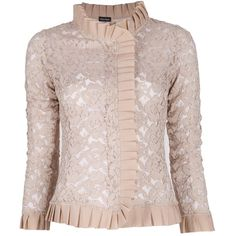 CHARLOTT lace ruffle jacket ($690) ❤ liked on Polyvore