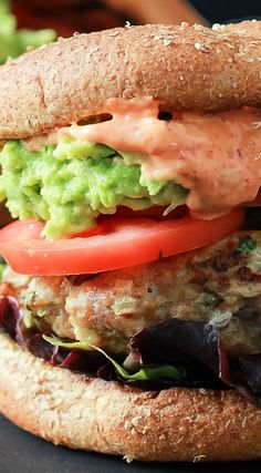 Southwestern Turkey Burgers with Guacamole with Spicy Aioli
