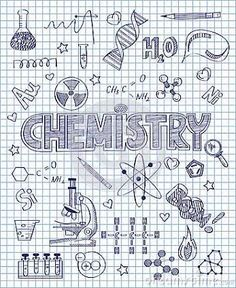 Photo about Vector illustration of Hand drawn chemistry set. Illustration of formula, bulb, pencil - 50195665 Photo about Vector illustration of Hand drawn chemistry set. Illustration of formula, bulb, pencil - 50195665 Chemistry Drawing, Chemistry Art, Notebook Covers, Binder Covers, Hand Illustration, Doodle Drawings, Doodle Art, Doodle Ideas, Sketch Note