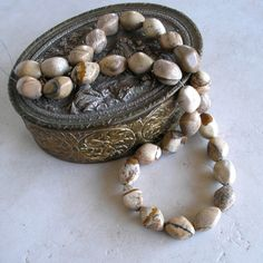 Picture Jasper Beads Diamond Oval Shape Beads by ForetTwo on Etsy, $13.00