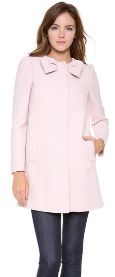 IN LOVE!! Bow Neck Coat - Lyst