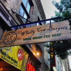 Wholly Cow Burgers has two locations—one on South Lamar and another on Congress Avenue in the heart of downtown. Their beef is pasture raised, grass-fed and finished in Fredericksburg, TX. Gluten-free and vegetarian options available.