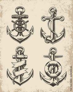 Anker bleistiftzeichnung  12 Anker-Motive mit Zitaten | Anker-Tätowierungen, Anker und Design