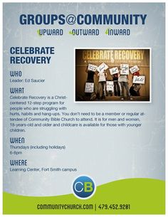 Celebrate recovery business card by derekredfearn celebrate celebrate recovery community bible church fort smith ar colourmoves