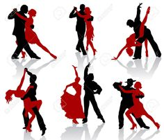 Silhouettes Of The Pairs Dancing Ballroom Dances. Tango. Royalty Free Cliparts, Vectors, And Stock Illustration. Image 8834187.