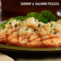 Shrimp & Salmon Piccata from Tony Roma's. Out of this world good!
