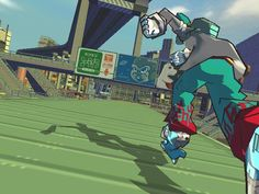Jet Set Radio Future: A jet-powered rollerblade graffiti-spraying romp through a gorgeous neo-Tokyo, with stunning cell-shaded visuals accompanied by one of the best soundtracks to grace a game.