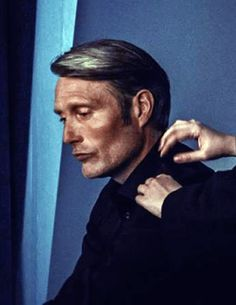 Mads Mikkelsen - photoshoot for XTB commercial - backstage