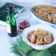 "Espaguetis con albóndigas y salchichas con Thermomix. Colección ""De Cine"" | Trucos de cocina Thermomix | Bloglovin'"
