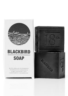 Blackbird Soap. Warning may be from Seattle. Side effects include being awesome.