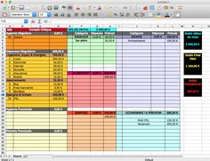 Gérer son budget sur ordinateur grâce à un tableur Budgeting Process, Budgeting Finances, Budgeting Tips, Budget Worksheets Excel, Faire Son Budget, Scrapbook Expo, Diy Organisation, Savings Planner, Home Management Binder
